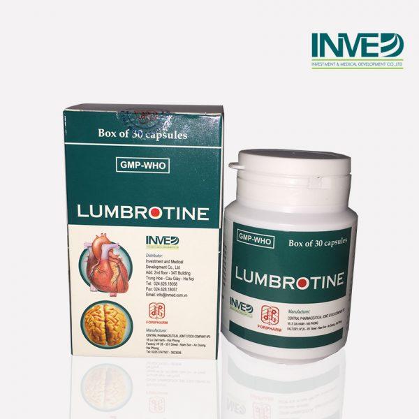 Thuốc điều trị tai biến mạch máu não Lumbrotine