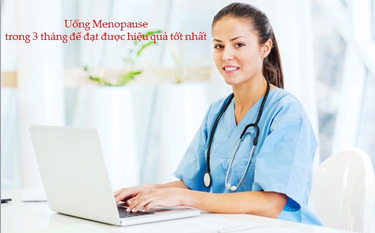 Chuyên gia Pháp khuyến cáo uống menopause trong 3 tháng để đạt hiệu quả cao nhất