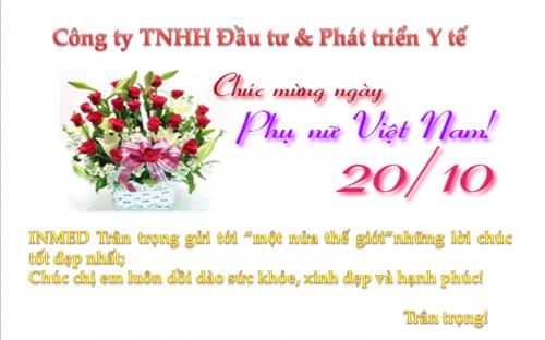 INMED chúc mừng ngày Phụ nữ Việt Nam 20.10