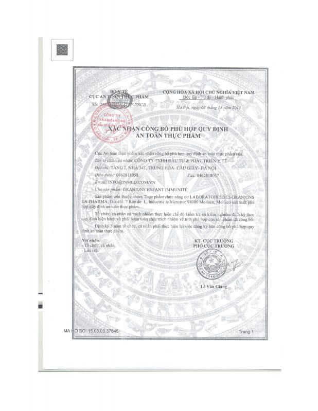 Siro tăng cường miễn dịch được Cơ quan nhà nước cấp phép lưu hành toàn quốc